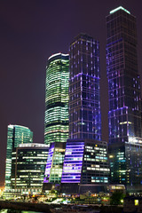 Skyscrapers at night