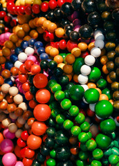 Colorful wooden neklaces