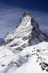 Wall Mural - Matterhorn view from the mountains