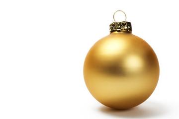 matte goldene christbaumkugel