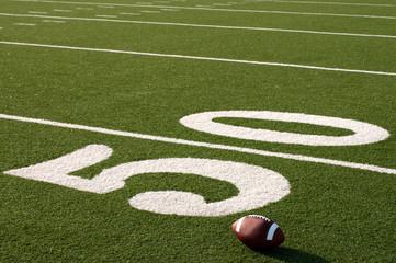 Wall Mural - American Football on Field