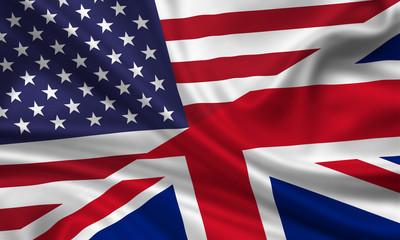 USA UK Flag Fahne Flagge Amerika Grossbritannien