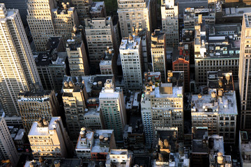 Manhattan buildings closeup