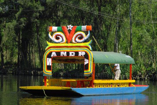 Boat in Mexico city Xochimilco