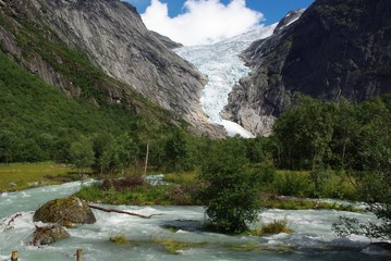 Glacier Briksdale in Norway, Europe