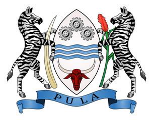 Fototapete - Botswana Coat of Arms