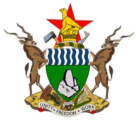 Fototapete - Zimbabwe coat of arms