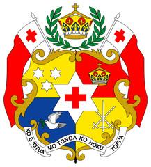 Fototapete - Tonga Coat of Arms