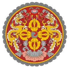 Fototapete - Bhutan Coat of Arms