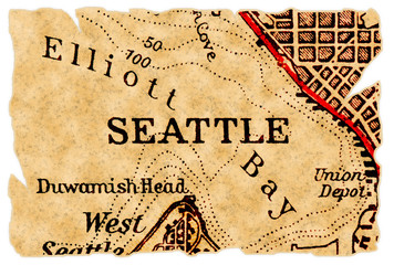 Seattle old map