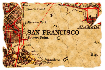 San Francisco old map
