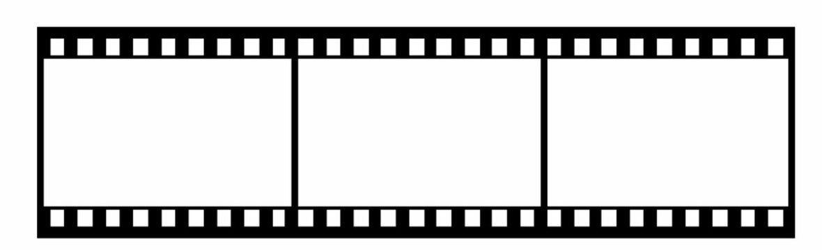 35 mm footage film vector illustration