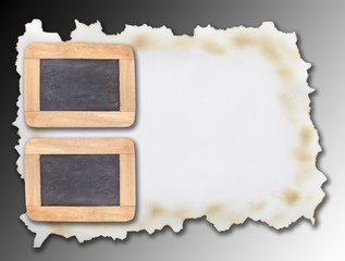Square frame on a gray background