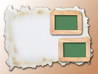 Square frame on light orange background