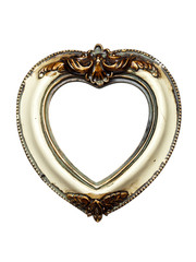heart shaped baroque picture frame