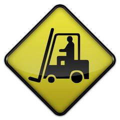 """Warning Sign """"Danger - Forklift Operating Area"""""""