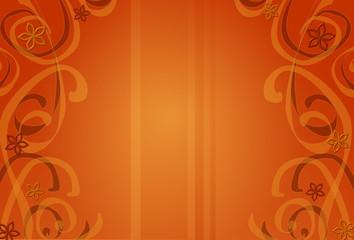 Caramellfarbener Hintergrund mit floralen Elementen