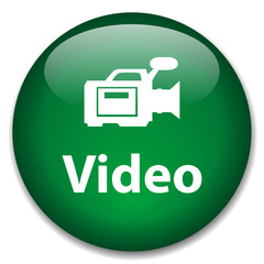 VIDEO Web Button (camcorder play watch view clip media player)