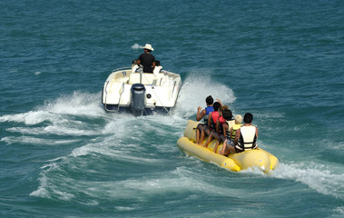 A Banana Boat Full of Tourists