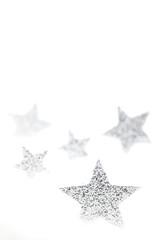 silberne Weihnachtssterne
