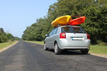 Kayaks on the car