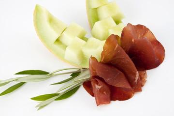 Bresaola - Italienischer Rindfleisch-Schinken mit Melone