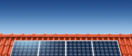 Solar roof panorama sky