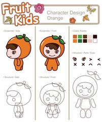 Cartoon Fruit Character 2