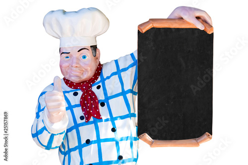 Cuisinier porte menu photo libre de droits sur la banque for Cuisinier 78