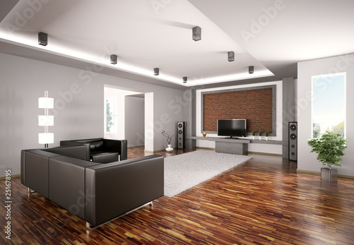 modern wohnzimmer 3d stockfotos und lizenzfreie bilder. Black Bedroom Furniture Sets. Home Design Ideas