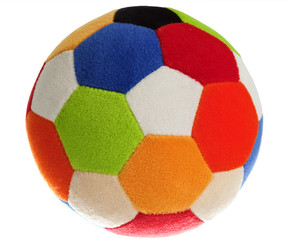 Child's Colorful Foam Ball, Isolated, White
