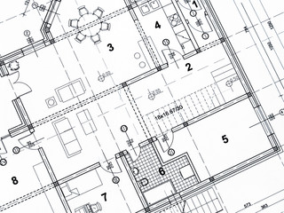 Fototapeta Closeup of architectural project obraz