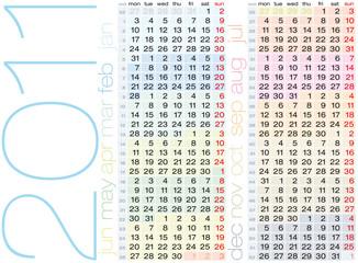 Colorful Vector Calendar 2011.