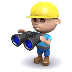 3d Builder with binoculars