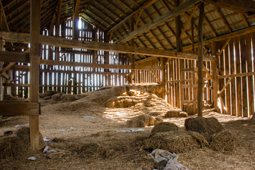 Old barn full of hay