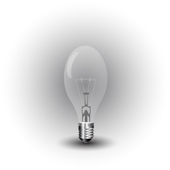 realistic vector-illustration of a old light bulb
