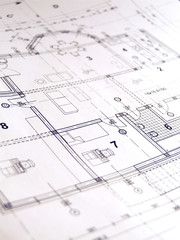 Closeup of architectural plan