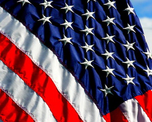 close up American flag