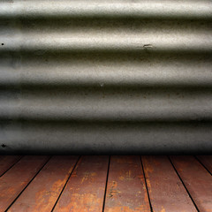 texture of slate walls and wooden floor