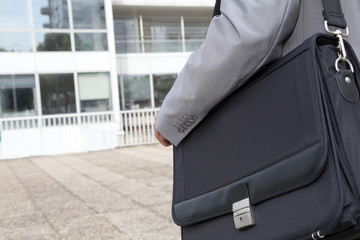Closeup of business briefcase