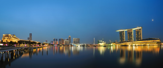 Foto op Plexiglas Singapore singapore marina bay walk