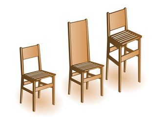 Vector illustration a wooden chair