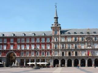 célèbre Plaza Mayor à Madrid, Espagne