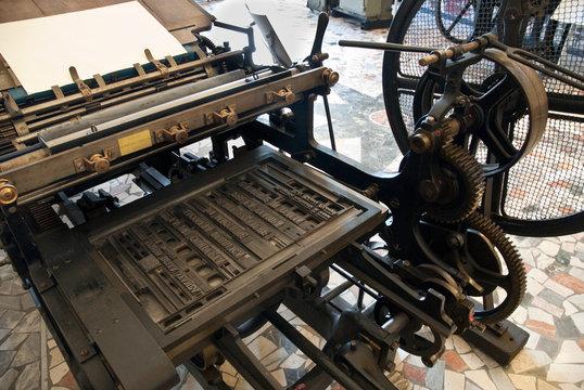 antica macchina da stampa