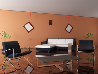 New interior of a room