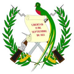 Fototapete - Guatemala Coat Arms