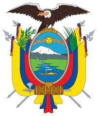 Fototapete - Ecuador coat of arms