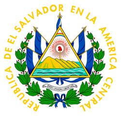 Fototapete - El Salvador coat of arms