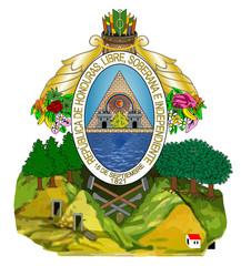 Fototapete - Honduras Coat Arms