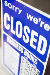 Closed Shop Sign